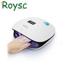 SUN4 48 Вт UVLED Профессиональный умный фототерапии машина UVLED Сушилка лампы ногтей для лечения пальцев ног ногтей Гель-лак маникюр инструмент