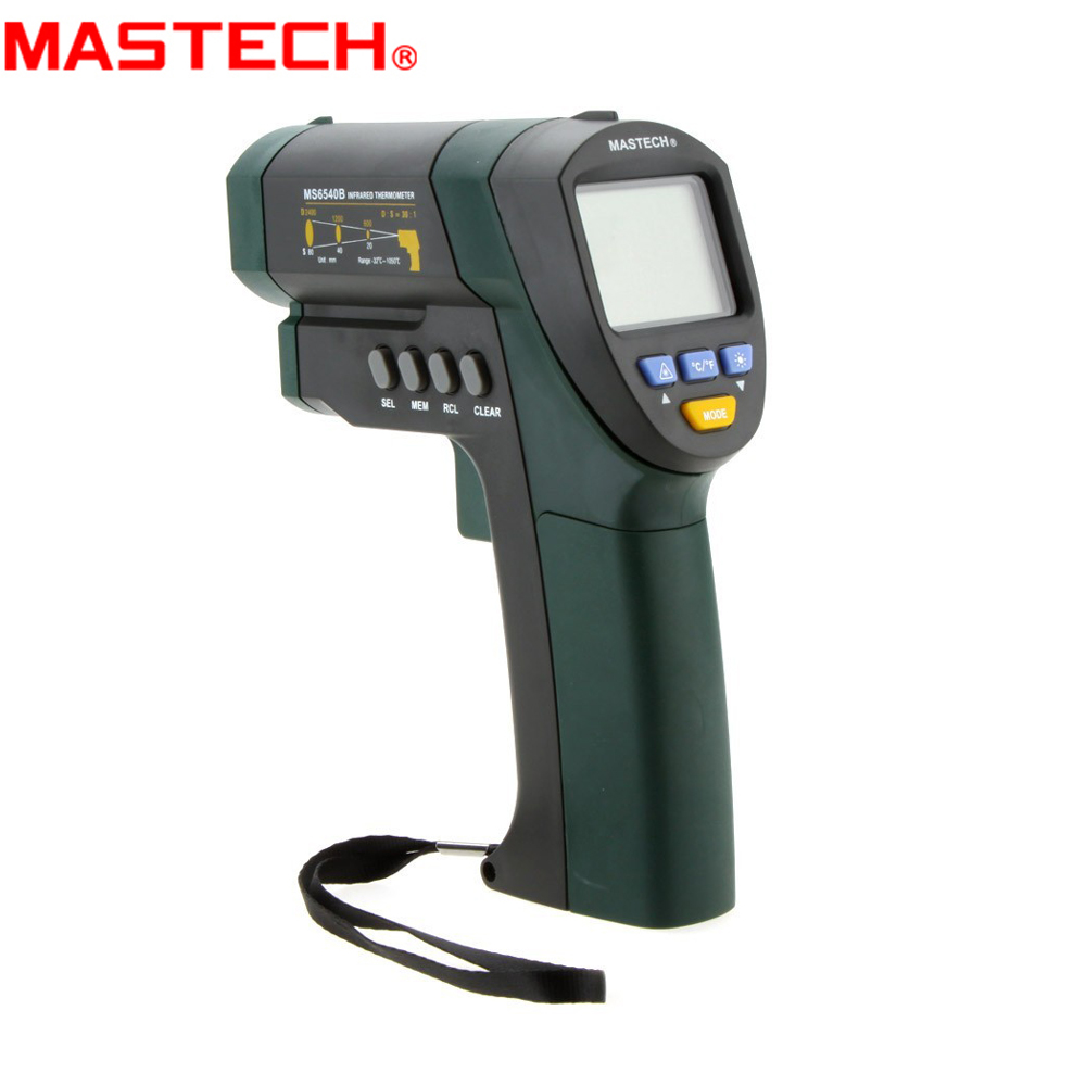 MASTECH MS6540A/MS6540B Non-contact Infrared Thermometer -32C~850C/1050C IR Temperature Meter Tester 30:1 (D:S) цена