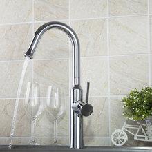 Высокий горячей/холодной воды Кухня torneira хром поворотный 360 одной ручкой 97054 на бортике бассейна раковина кран, смеситель