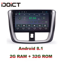 IDOICT Android 8.1 IPS Screen 2G+32G Car DVD Player GPS Navigation Multimedia For Toyota Vios Yaris Radio 2017 car stereo