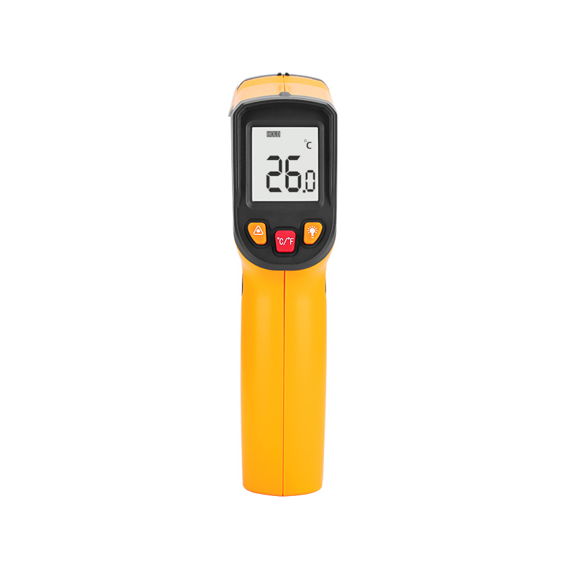 Laser LCD Digital IR Infrared Thermometer Temperature Meter Gun Point -50~380 Degree Non-Contact Thermometer elecall 50 800c adjustable emissivity autooff lcd noncontact digital laser infrared thermometer ir high temperature gun tester page 9
