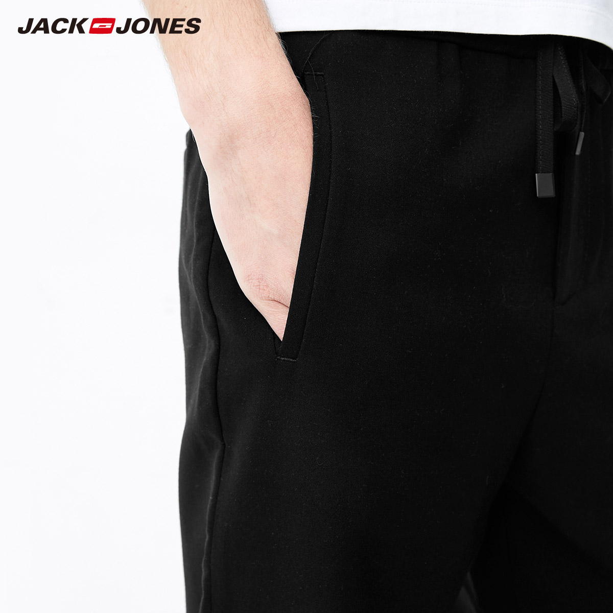 Jack Jones Spring Summer New Men Casual Solid Tapered Pants Trousers Men Joggers 218114517 in Skinny Pants from Men 39 s Clothing