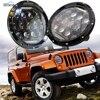 1 Set Round 7inch 75W LED Headlight For Jeep 12V 24V Led DRL Light For Wrangler
