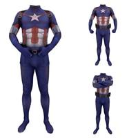 3D printing Captain America Cosplay Costume 3D Printing Spandex Lycra Zentai Bodysuit Suit Jumpsuits man costumes