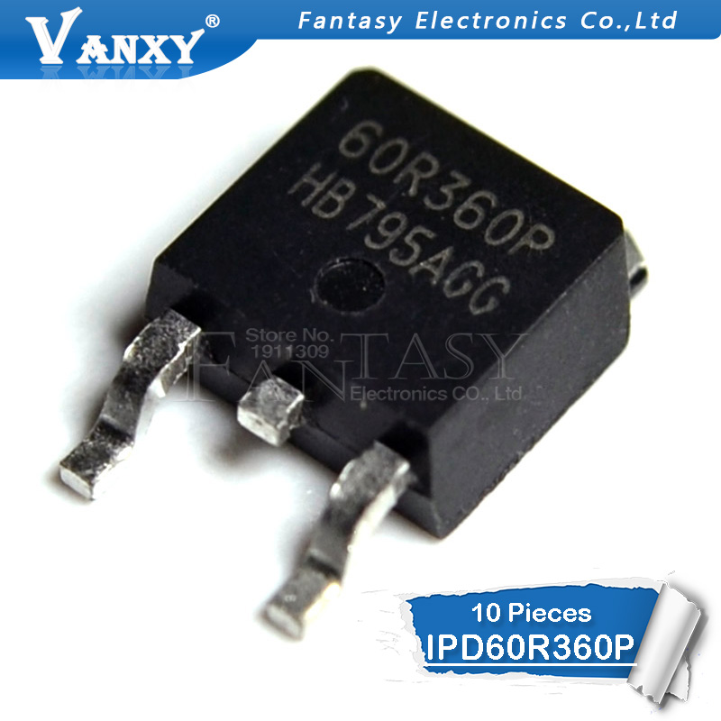 10pcs IPD60R360P TO-252 60R360P IPD60R360 TO252 60R360Q 60R360 SOT New Original