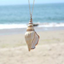 New fashion sea breeze chain necklace conch shell pendant long ladies gift XL212