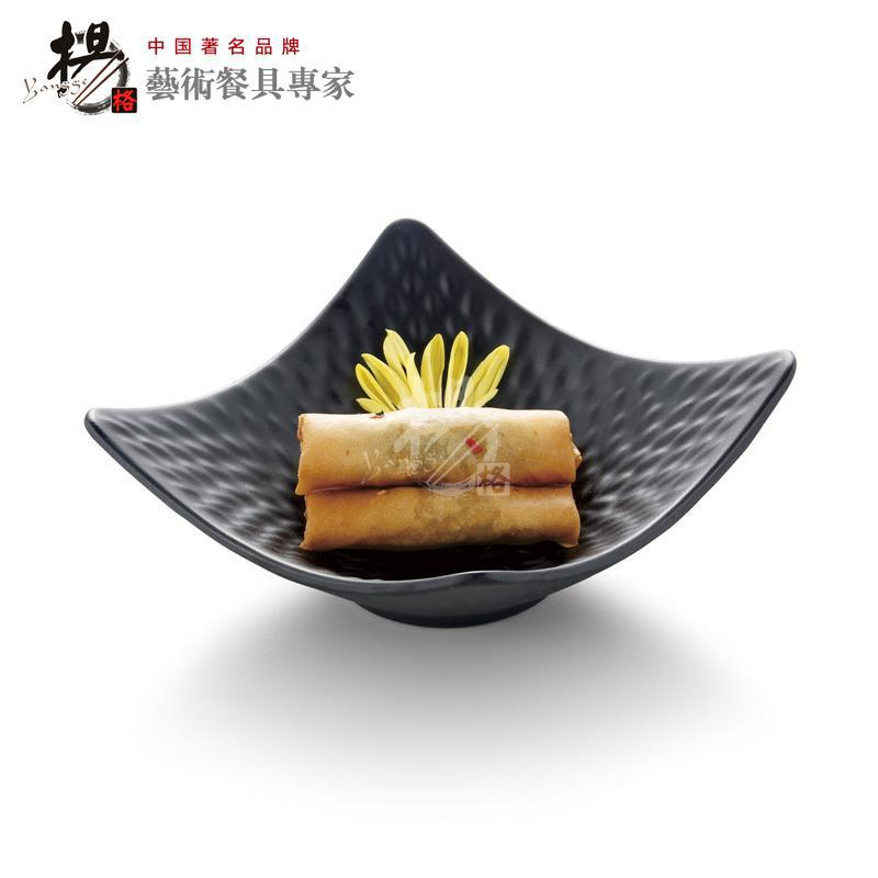 European Noshery plastic melamine square dessert snack food appetizer plate dishes dinnerware