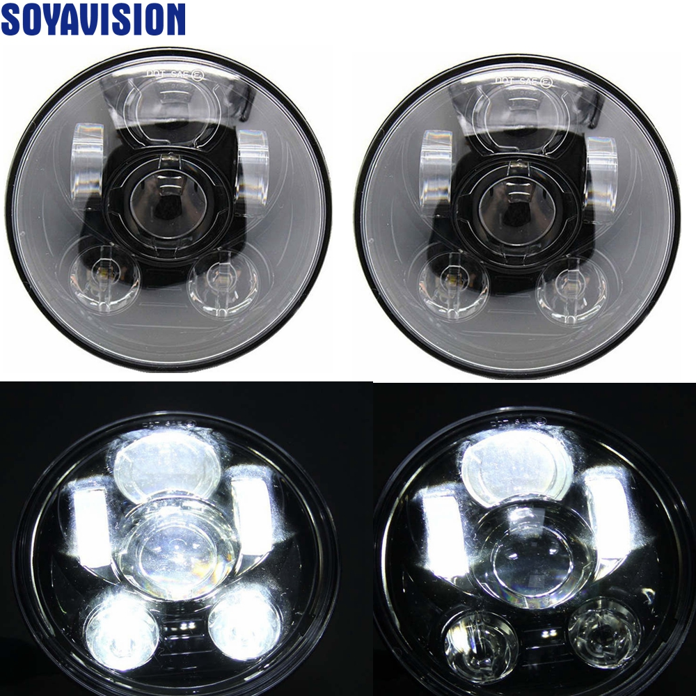 45W 7 Inch Round Led Headlight Bulb High Low Beam For Jeep 97 15 Wrangler JK