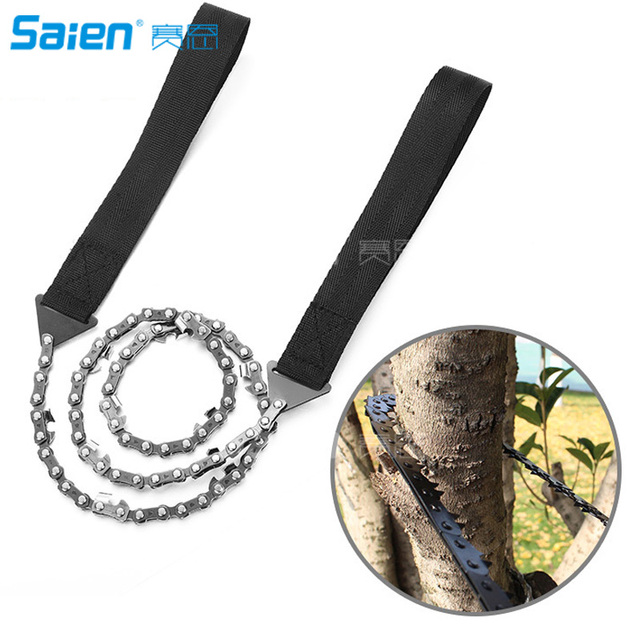 Survival Pocket Chain Saw Chainsaw 24 Inches Portable Hand Saw For Camping Hiking Backpacking Hunting Boy-scouts Emergency Gear 1