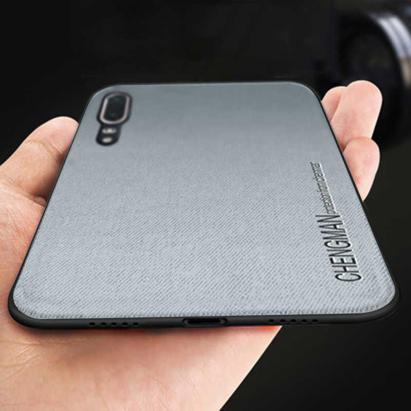 Ultra-delgada mate suave de silicona TPU tela teléfono caso para Huawei P20 Pro P20Pro Nova 3E Nova3e caso a prueba de golpes cubierta Coque