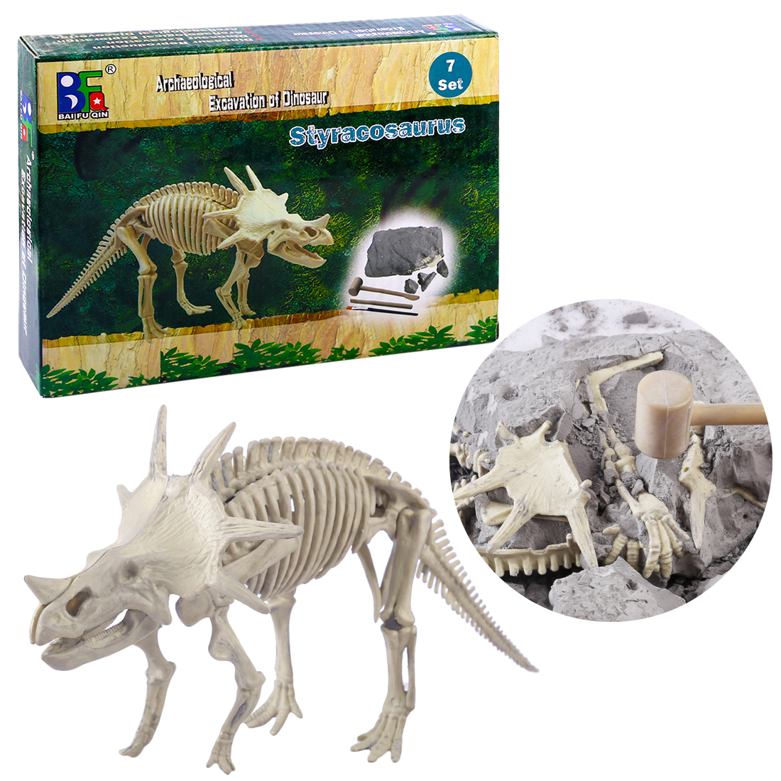 Children Creative Educational Gypsum Plastic Dinosaur Archaeology Excavation Kits Toys Novelty Digging Early Development Toy New