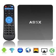 Genuino A95X Android 5.1 Mini TV Box 2G + 16G Amlogic Quad Core 2.4G WIFI Kodi16.0 S905 Smart Set Top Box