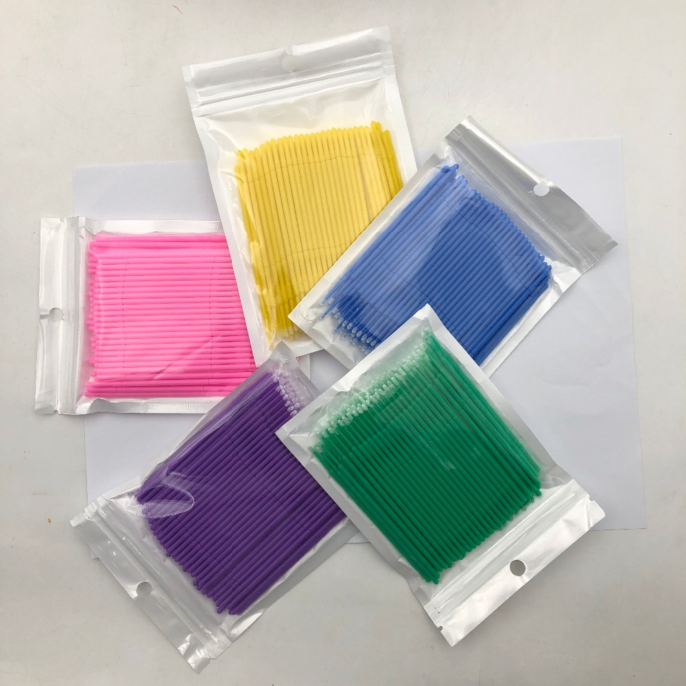 New 100PCS/Pack Disposable Makeup Brushes Swab Microbrushes Eyelash Extension Tools Individual Lash Removing Tools Lashes