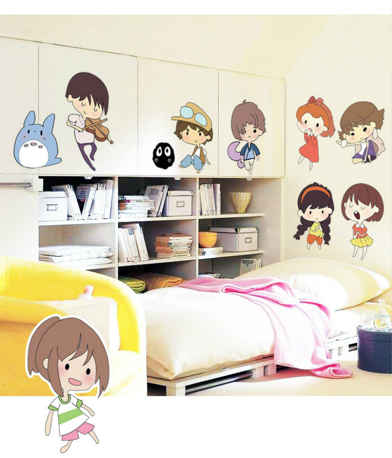 Cute Wall Stickers Home Decor Accessory,house Decoration For Wall Cartoon Art Wallstickers For Kids Bedroom Kindergarten