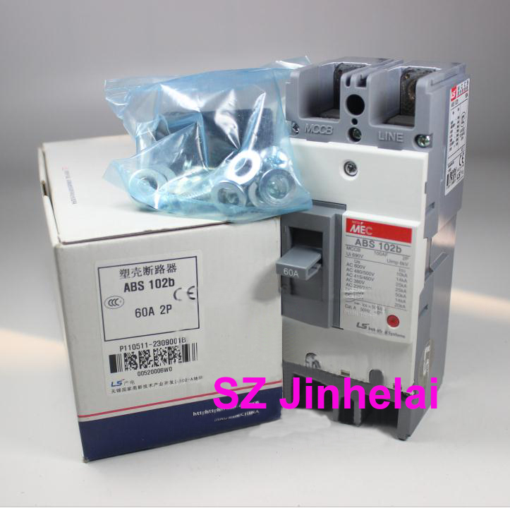 ABS102b Authentic original ABS 102b LS Molded case circuit breaker ABS-102B Air switch 2P 15A/20A/30A/40A/50A/60A/75A/100A cm1 400 3300 mccb 200a 250a 315a 350a 400a molded case circuit breaker cm1 400 moulded case circuit breaker