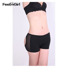 FeelinGirl Butt Lifter Boy Short Panty Booty Enhancer Tummy Control Body Shaper Butt Trainer Bum Lift Pants Plus Size L-3XL G