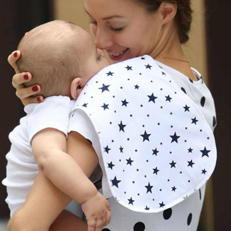 3pcs/Lot Double Layer Waterproof Pure Cotton Baby Feeding Towel Mommy Shoulder Spitting Milk Pad For Kids