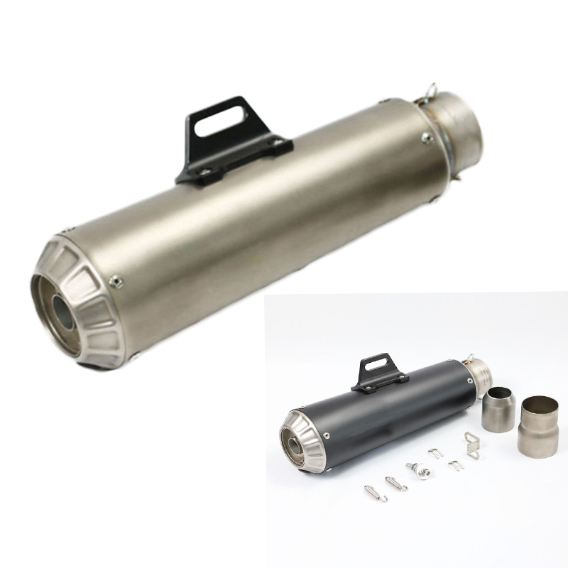 61mm Inlet Motorcycle Exhaust Muffler For SC GP Project Pipe With Brand Laser Racing Sport Motorbike