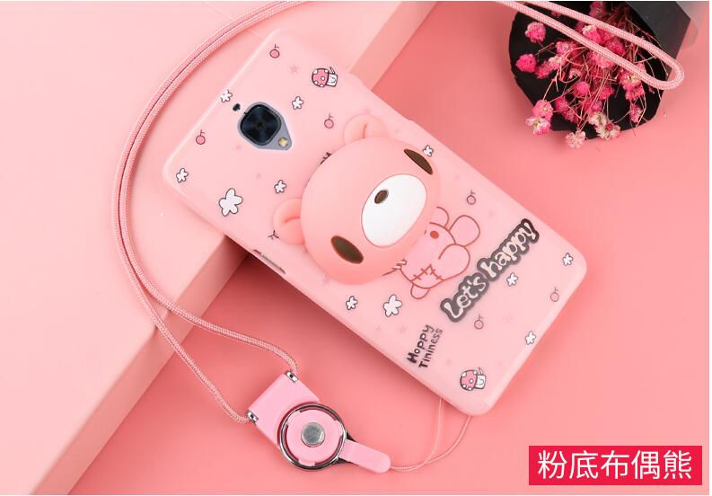 Phone Cases for oneplus 3 3D Cute Cartoon Ice Cream Soft TPU Silicone Back Case Cover