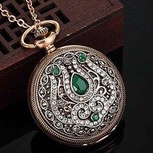 Nueva Llegada Accesorios Turco Marca Reloj Colgante y Collar Chapado En Oro Antiguo de La Vendimia Collares y Colgantes Mujeres Collares