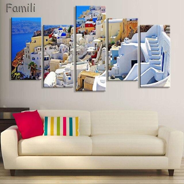 5 Pezzo Moderna Pittura Decorativa Domestica di ...