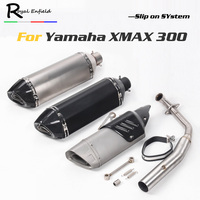 xmax300 Motorcycle Exhaust Pipe Escape Carbon fiber exhaust slip on muffler middle pipe Dedicated For yamaha xmax 300 xmax300