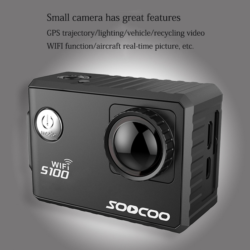 SOOCOO C100 4k WIFI Outdoor Sport Action Camera Built-in Gyro UHD 30m Waterproof DV Camcorder 20MP Diving Sport camera with GPS 4k 30fps action camera wifi 1080p uhd 2 0 lcd screen 30m waterproof diving 170 degree sport action camera dv camera