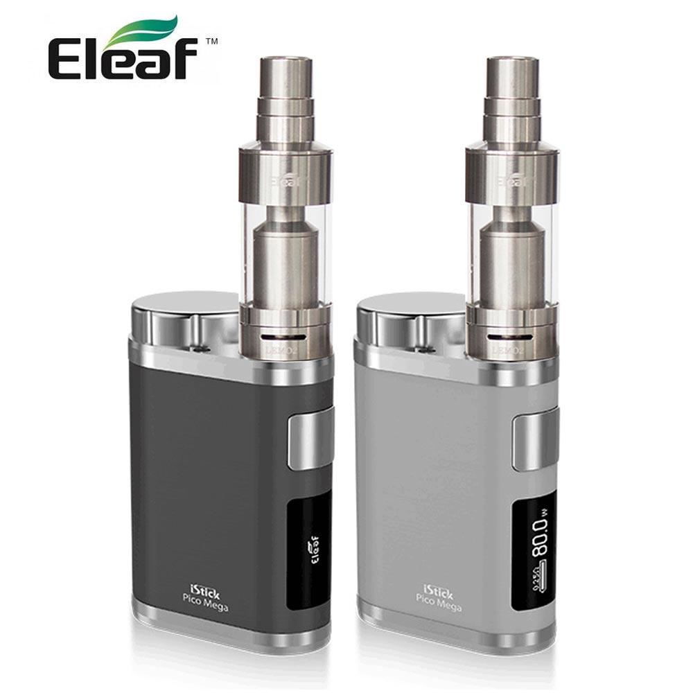 Original Eleaf istick Pico Mega mod box 80W output with eleaf Lemo 2 Tank 3.8ml DIY Tank Electronic cigarette vape 18650/26650