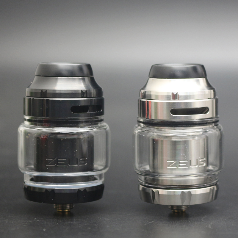 High Quality Zeus X RTA 4.5ml Capacity Tank For Single/dual Coil Building E-cig Tank With 810 Delrin Drip Tip