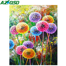 AZQSD Diamond Painting Dandelion Mosaic Embroidery Flower Diy 5d Picture Of Rhinestones Home Decoration Gift Handicrafts
