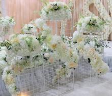 Wedding tie yi grid road lead geometric box stage decoration ceiling window props