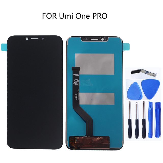 FÜR UMI umidigi One Pro 5,9 Schwarz LCD Monitor mit Touchscreen Digitizer Komponente Reparatur Zubehör + Werkzeuge Kostenloser versand