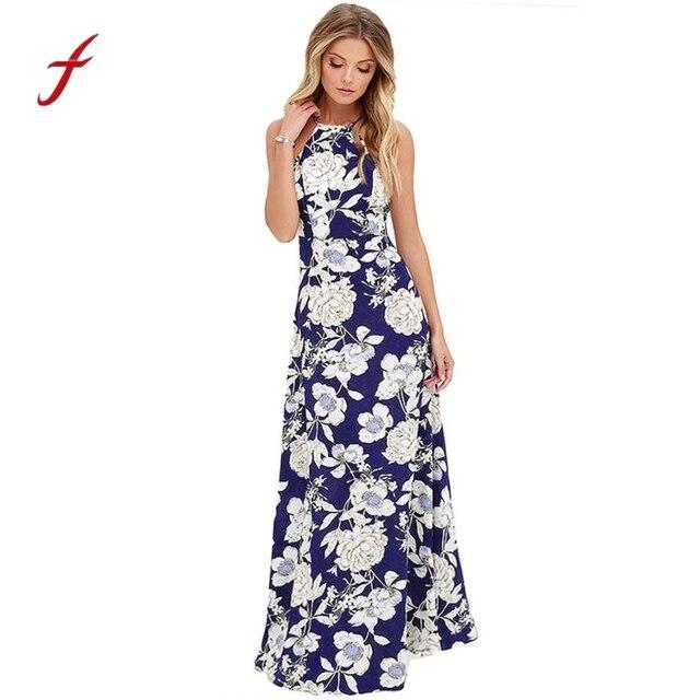 2efba0d3968 Maxi Dress 2018 Boho New Summer New Style Sleeveless Women Long Maxi  Evening Party Night Beach