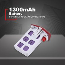 купить RC Lipo Battery 3.7V 1300mAh Battery Rechargeable Battery For SYMA X5UC X5UW RC Drone RC Toys Models RC Drone Spare Parts по цене 489.05 рублей