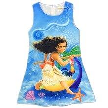 2017 MOANA Robe Bébé Fille Robe Moana D'été de Dessin Animé Coton Filles Costumes Pour Filles Partie Enfants Robes Enfants Robe N08