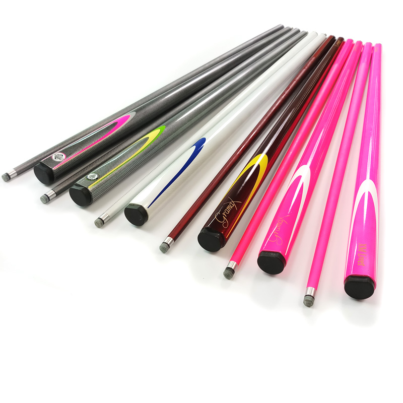 Professional Billiards Pool Carbon cues colorful 1/2 snooker billiard cue stick 9.5mm small head black eight cues-in Snooker & Billiard Cues from Sports & Entertainment    1