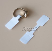 Free Shipping,Wholesale,Rectangle Shape White color Finger rings Paper Sticker Price Tags size tags,Jewelry Accessary 1000pcs