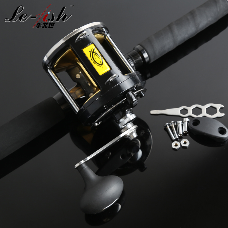 8BB 25kg Drum Fishing Reel Baitcasting 3.4:1 Stainless steel bearing Strong For Boat Jigging Baitcast Vessels trulinoya drum fishing reel left right hand 5 2 1 7 1bb baitcasting reels fishing reel boat wheel round baitcast vessels tr500
