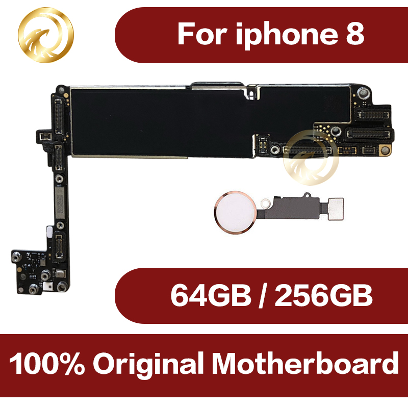 Full Unlocked For Iphone 8 4.7inch Motherboard With / Without Touch ID,100% Original For Iphone 8 Mainboard With IOS System
