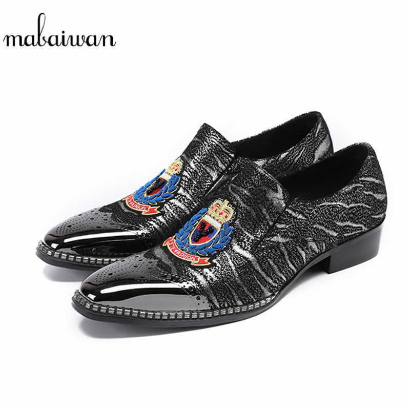 Mabaiwan 2018 New Fashion Top Quality Leather Espadrilles Men Dress Shoes Business Wedding Office Shoes Men Casual Shoes Flats 2017 new spring imported leather men s shoes white eather shoes breathable sneaker fashion men casual shoes