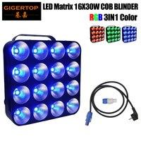 Free Shipping 16 Head Led Matrix Light 16x30W RGB 3IN1 Tri Color COB DMX Led Matrix Bliner Stage Light Wash Effect Club,DJ Show