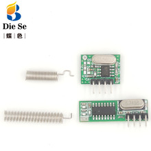 цена на 433Mhz RF Receiver and Transmitter Module Switch 433Mhz Remote controls For Arduino uno Wireless module DIY Kits Superheterodyne