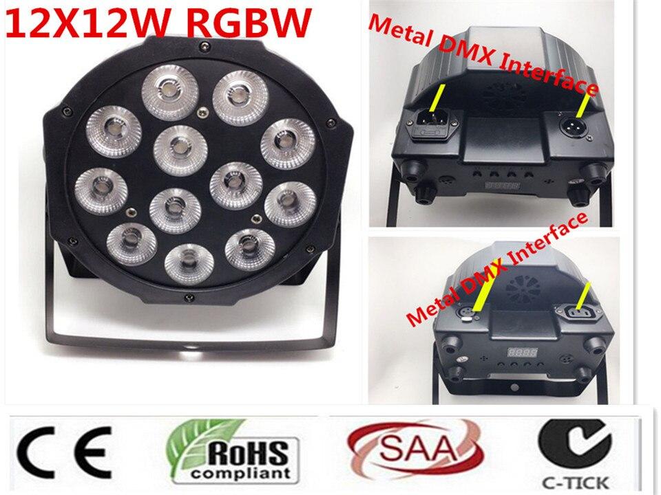 все цены на CREE RGBW 12x12 W LED Flat SlimPar Quad Luce 4in1 LED DJ Wash Stage Light dmx luce della lampada 4/8 channes