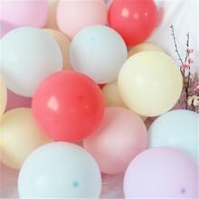 100pcs/lot 10 inch Macaron Latex balloons Wedding Birthday Decoration Globos Baby Shower Girl Party Helium Balloon New