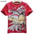 4-11Years niños Del Verano niños del bebé camiseta de los muchachos de Dinosaurio de la Historieta Adolescente Niñas Tops Tees Cortos Camisetas SAILEROAD
