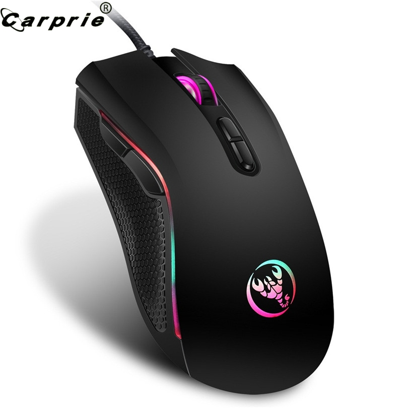 Mouse Mice Wired-Gaming-Mouse Optical-Ergonomics Pro Gamer 3200DPI Comfortable Touch-90214