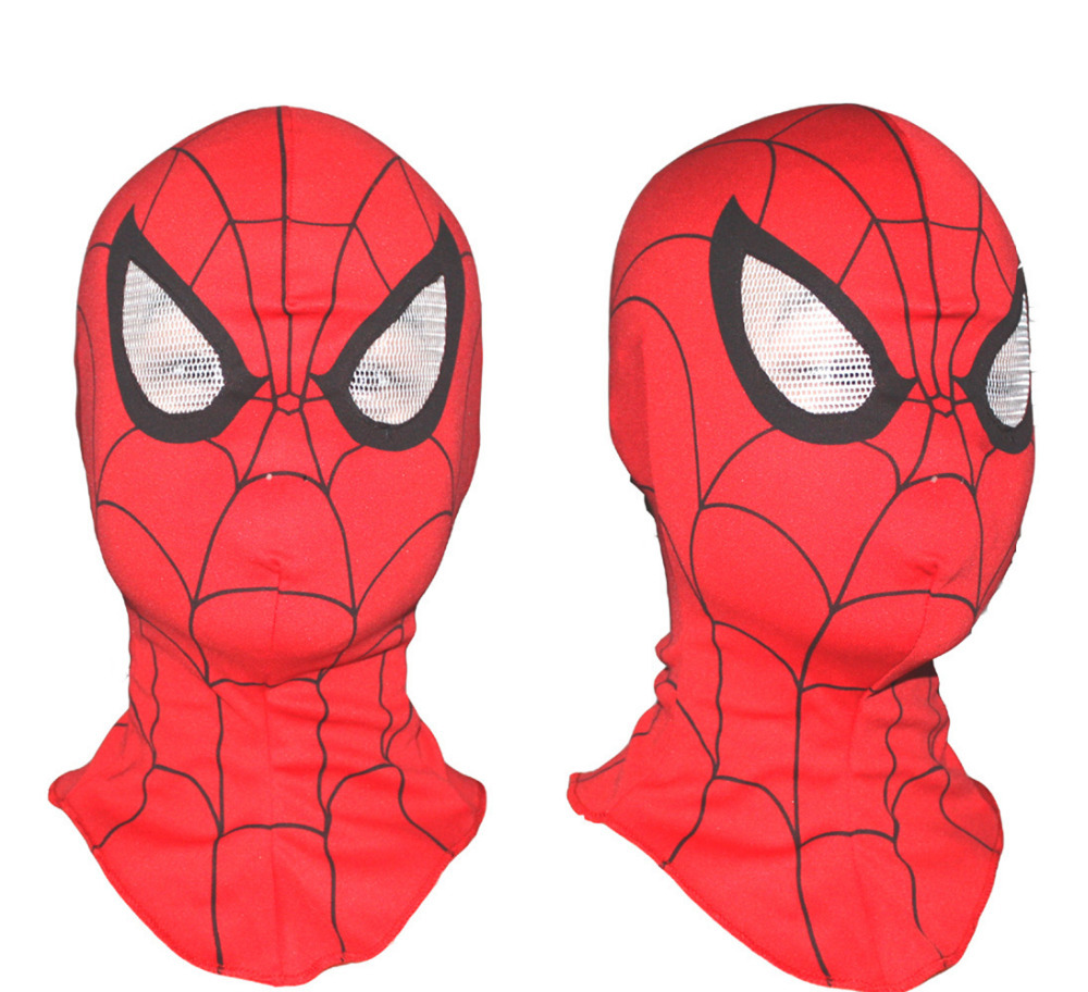 5pcs / lot Super Spiderman Mask Cosplay Hood Party Maske Polna glava Halloween Praznična zabava Celoten obraz Odrasli Villain Joke
