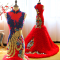 Luxury Mermaid Evening Dress Special Occasion dresses 2017 Gorgeous China Style Evening Dresses Elegant Women Long Formal Gowns