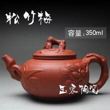 2015 chinesische Teekanne Handgefertigten Porzellan Yixing Teekanne 350 ml Kung Fu Tee-Set Teekannen Keramik Sets Wasserkocher High-grade Verschiffen Frei