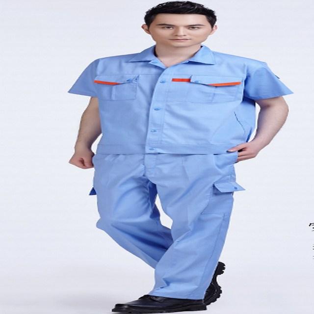 -Manga curta conjunto desgaste do trabalho de verão do desgaste do trabalho vestuário de protecção roupas de trabalho